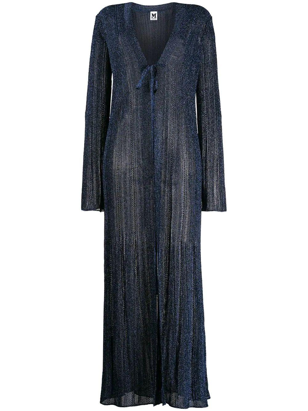 Long Sleeve Lurex Long Cardigan