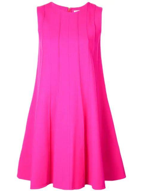 Sleeveless Seamed Swing Dress