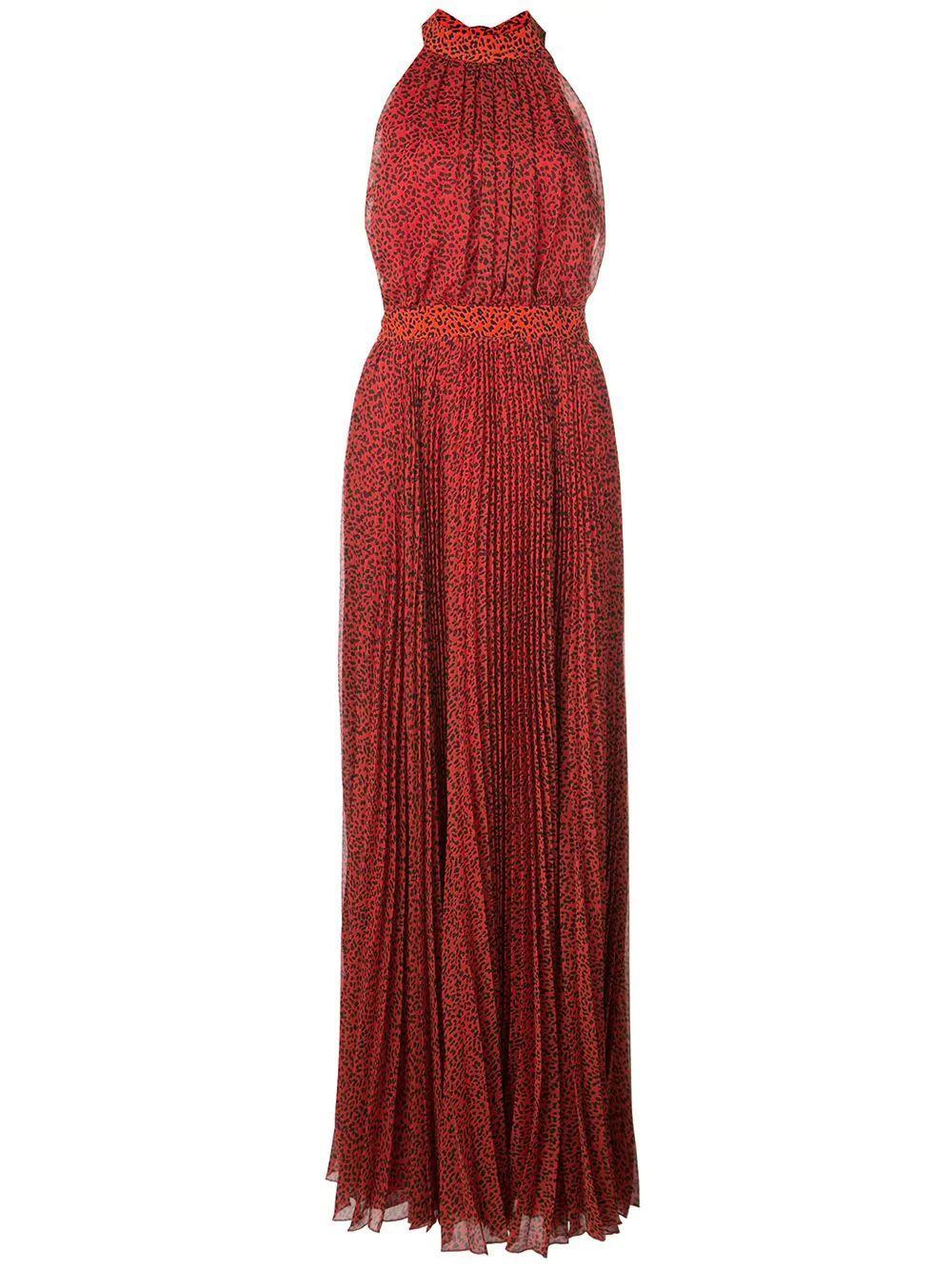 Kelissa Halter Pleat Maxi Dress Item # CC909P33515