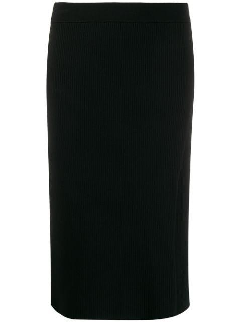 Deep Rib Wrap Skirt
