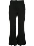 Double Face Wool Bell Crop Pant With Slit