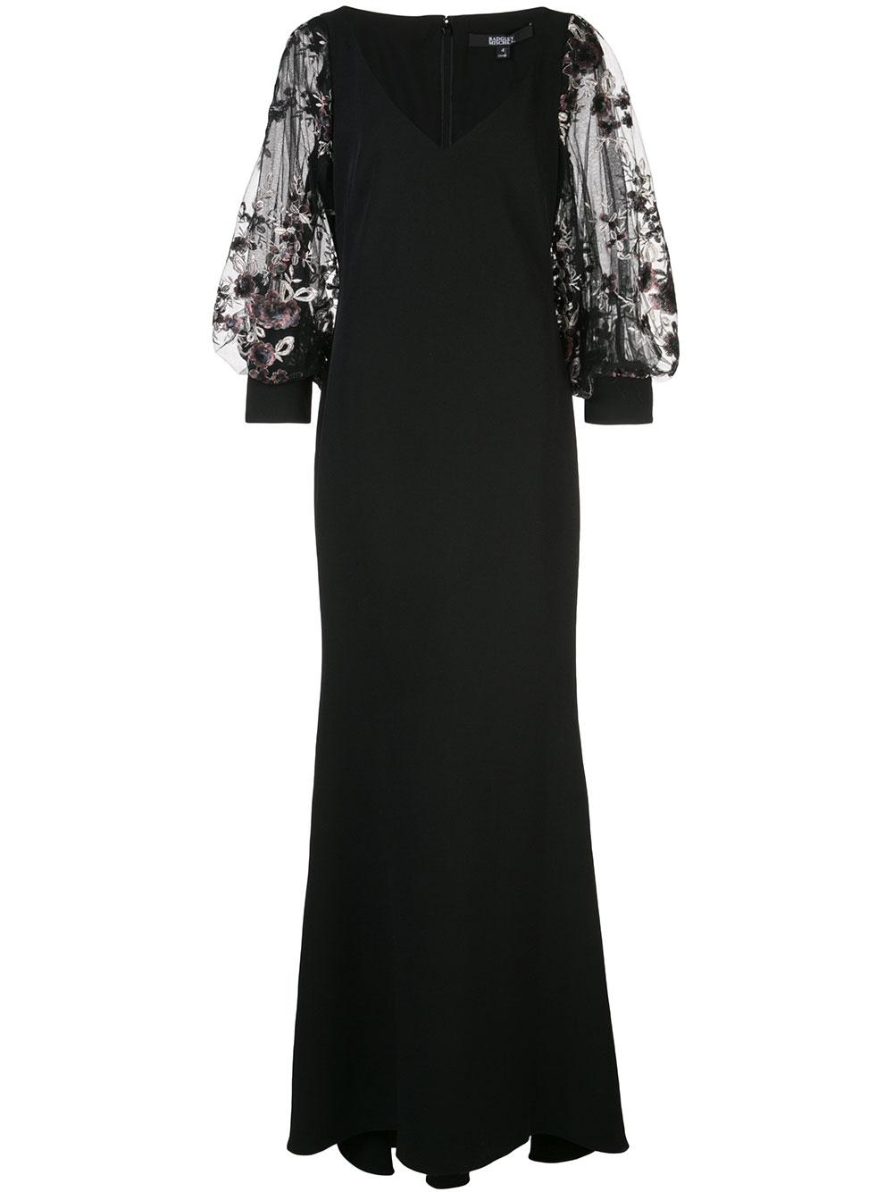 Embellished Blouson Sleeve Gown Item # EG2793