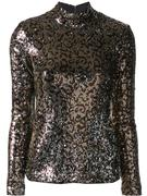 Sequin Leopard Turtleneck
