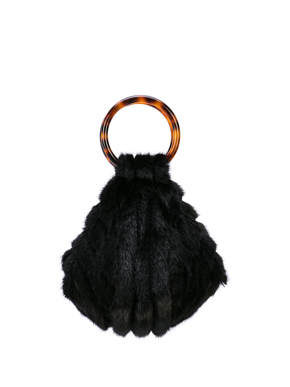 Eva Fur Ring Handle Bag