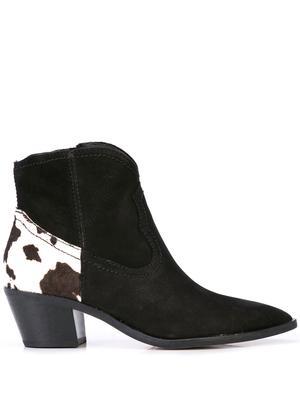 Western Bootie With Contrast Heel