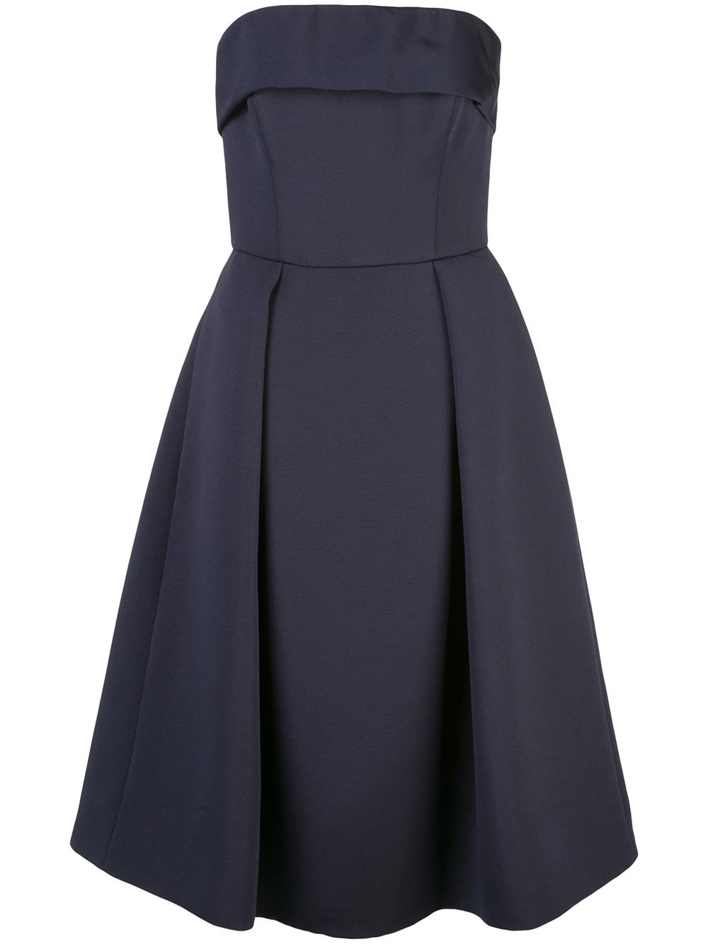 Soft Faille Strapless Tea Length Dress Item # LW140