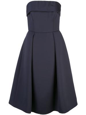 Soft Faille Strapless Tea Length Dress