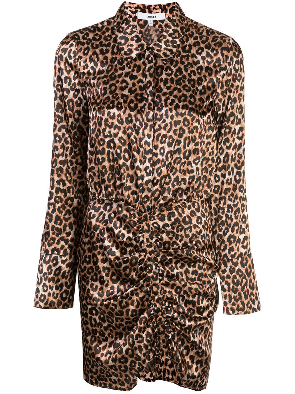 Leopard Emilia Collar Dress Item # YD10603115Y