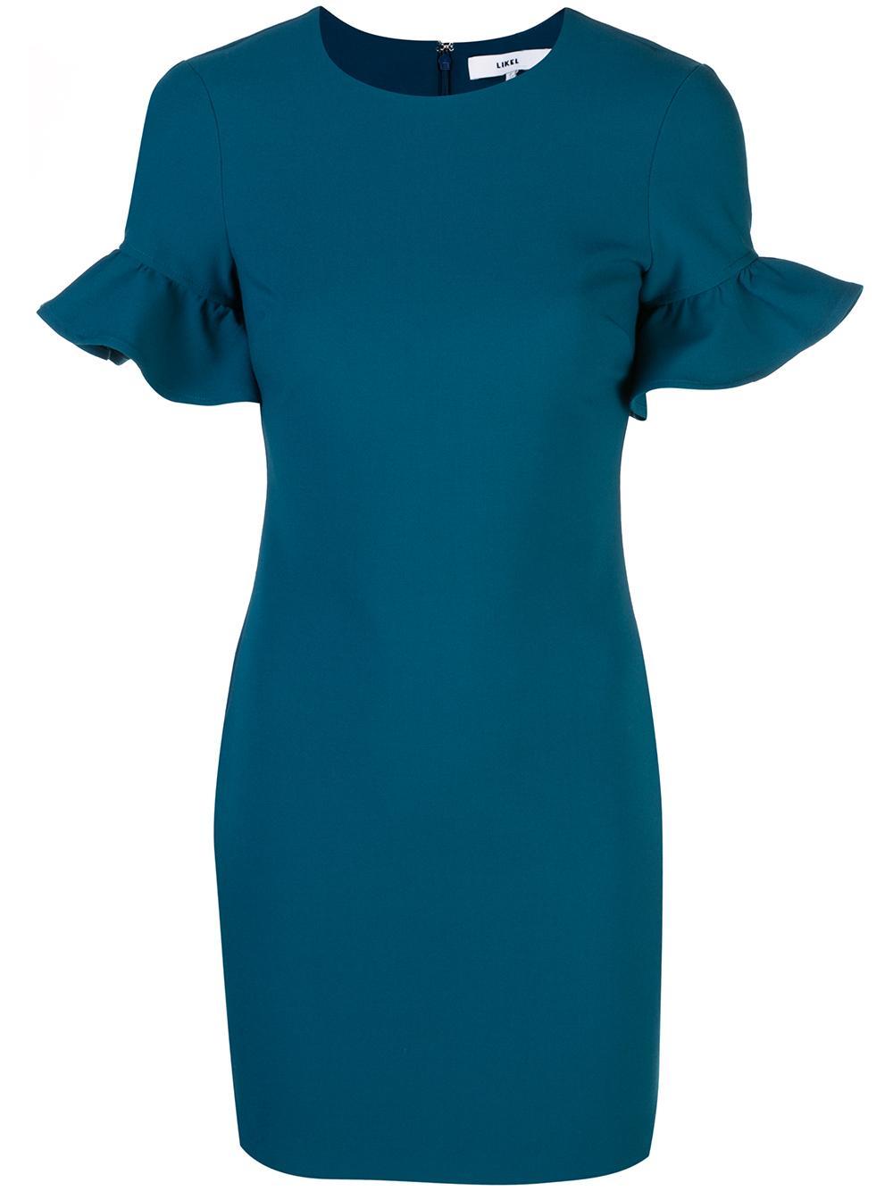 Nico Short Sleeve Ruffle Dress Item # YD980001LYB