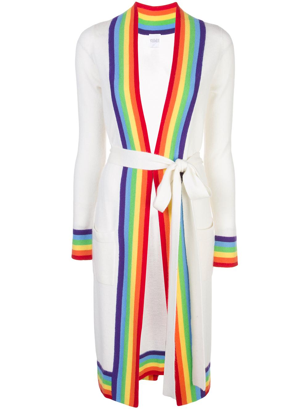Rainbow Stripe Long Duster