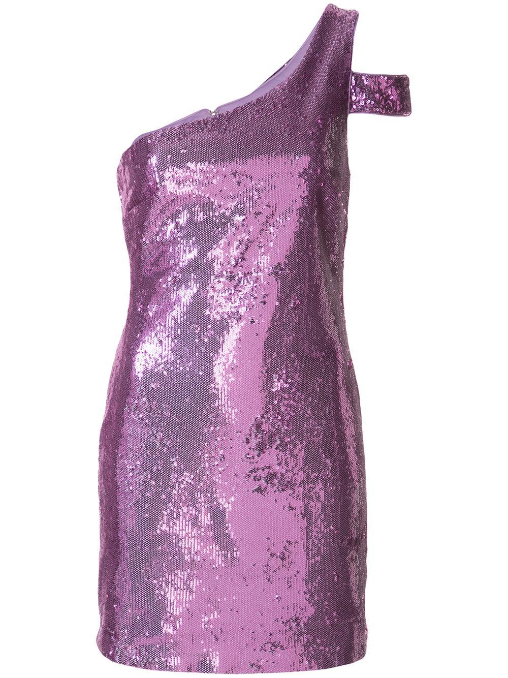 Toscano One Shoulder Sequin Dress