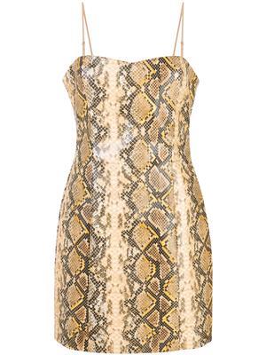 Gold Python Hayley Dress