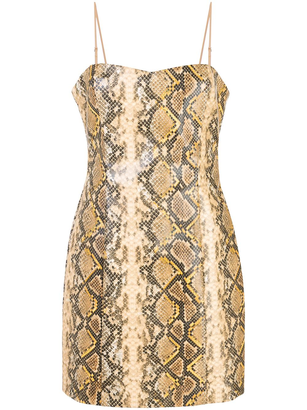 Gold Python Hayley Dress
