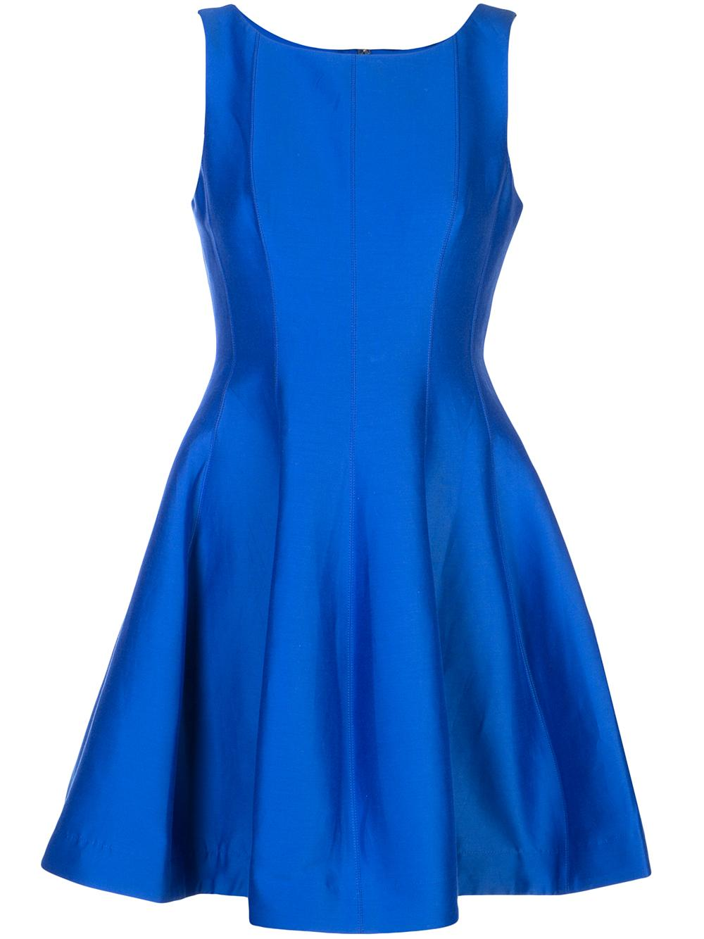 Fit And Flare Silk Faille Dress Item # SFT153006
