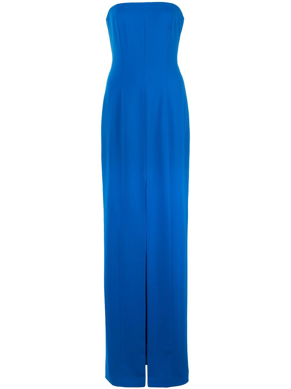 Martell Strapless Slit Gown