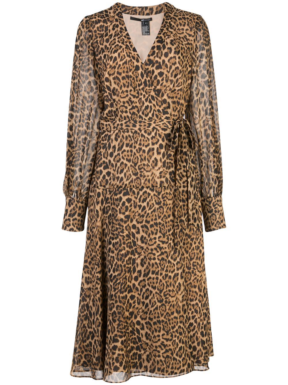 Kevyn Long Sleeve Wrap Midi Dress Item # 117312
