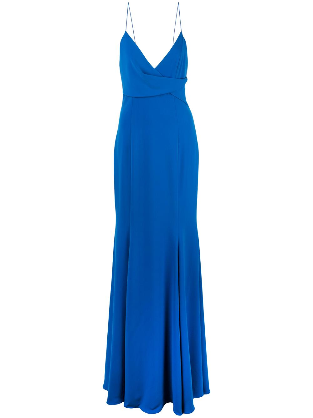 Bocelli Draped Pleate Front Gown