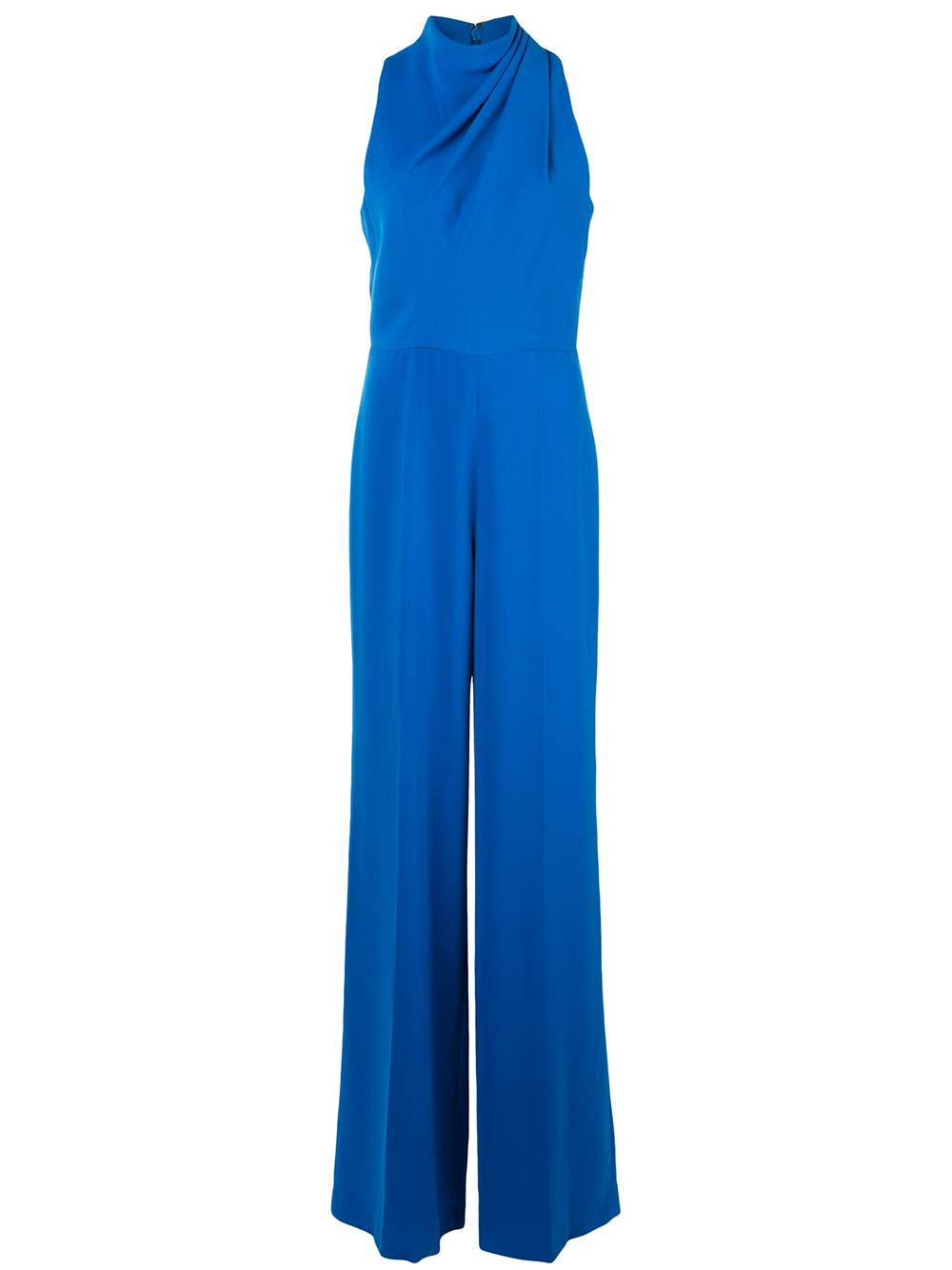 Tommy Pleat High Neck Jumpsuit
