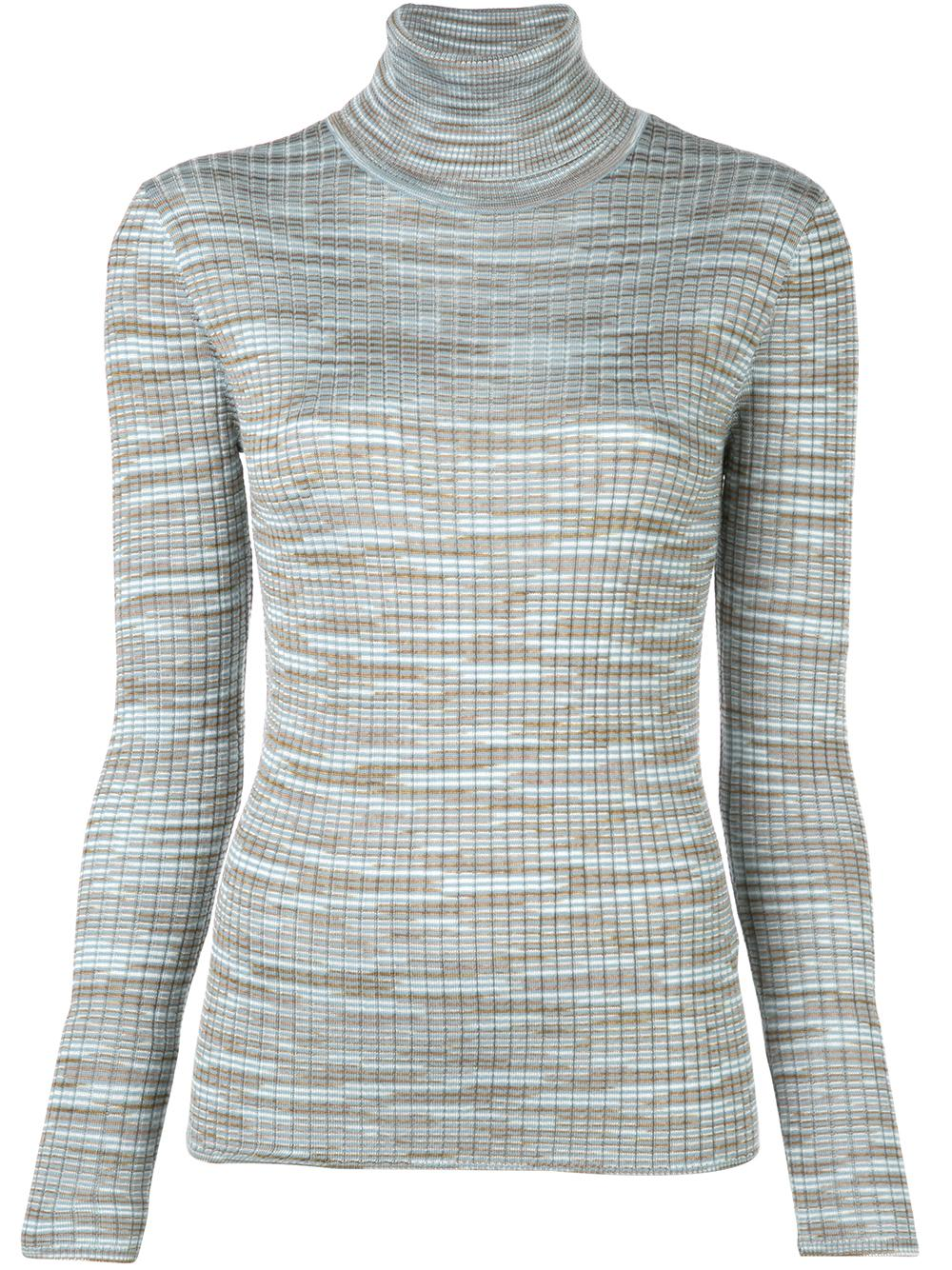 Long Sleeve Spacedye T-Neck Pullover