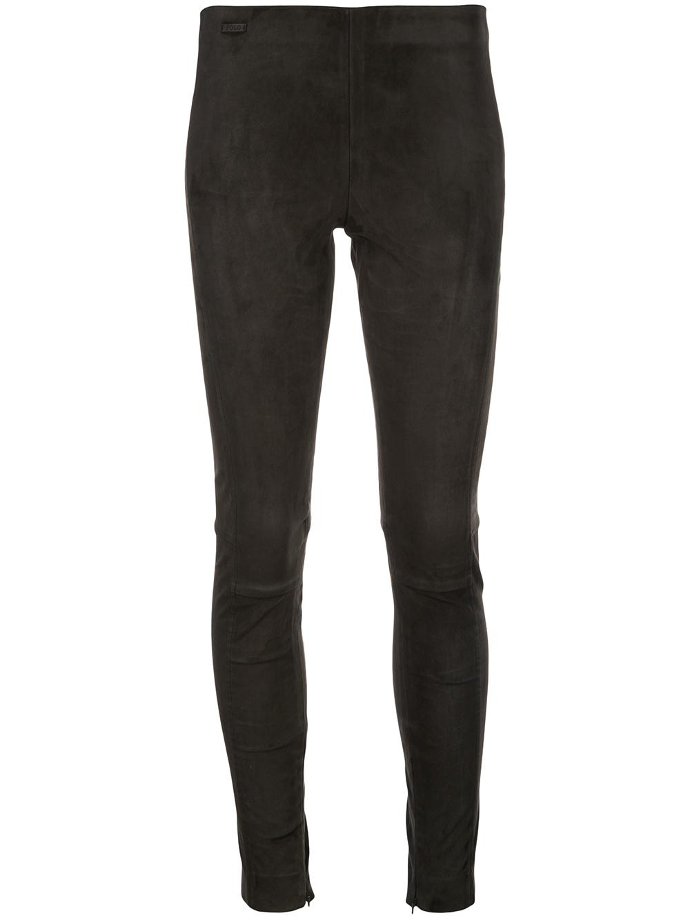 Suede Straight Slim Pant