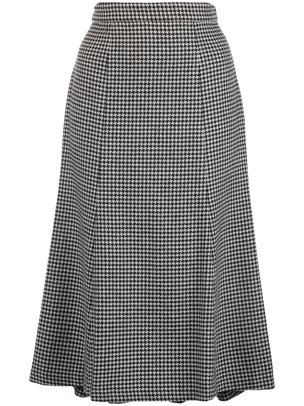 Houndstooth Straight Skirt