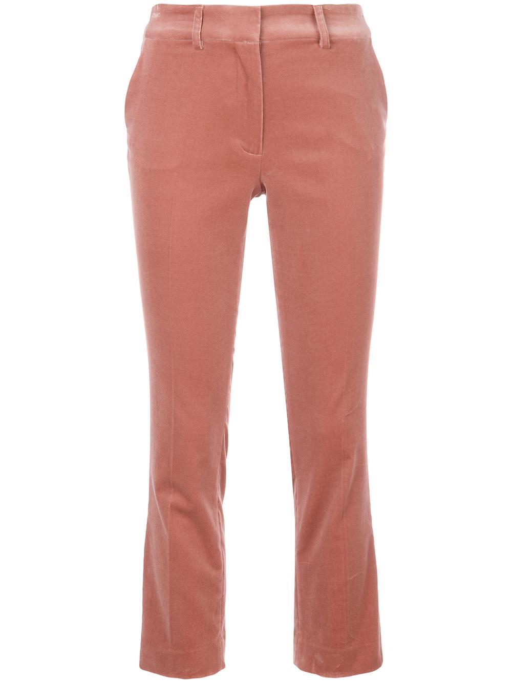Velvet Cropped Perfect Trouser Item # LWWB0418