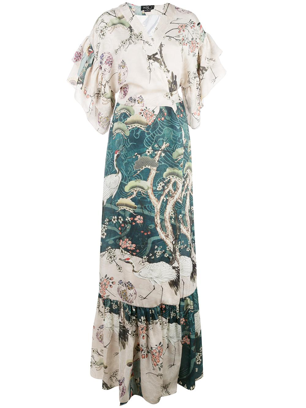 Tokyo Kimono Sleeve Maxi Dress Item # VES2111US