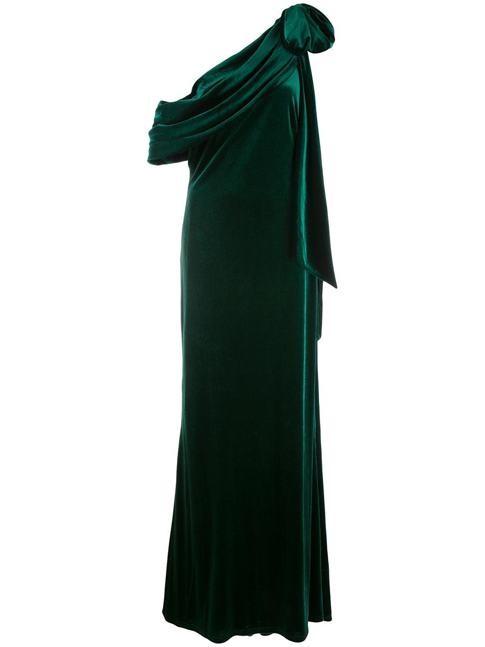 One Shoulder Gown With Bow