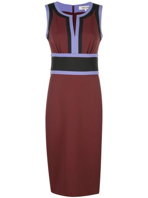 Maribel Color Block Sheath Dress Item # 13382DVF