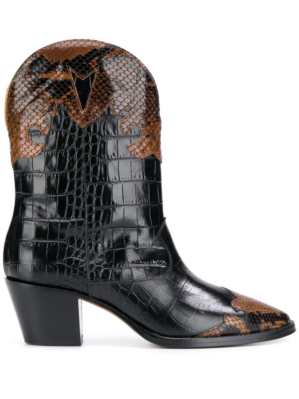 Python/Crocodile Texano Short Boot