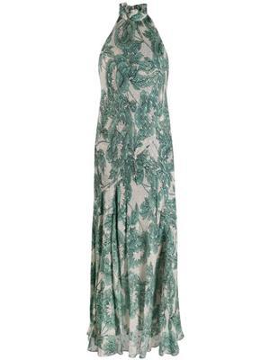 Leeann Ruffle Neck Maxi Dress