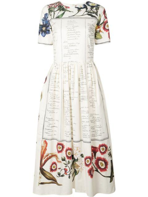 Short Sleeve Printed Day Dress