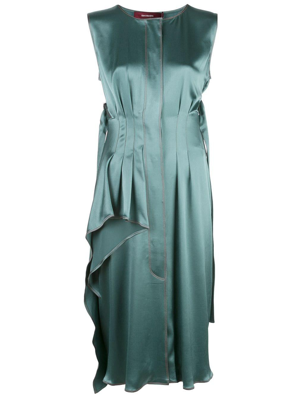 Ginger Crinkled Satin Sleeveless Dress Item # 13KS5196-SE40180
