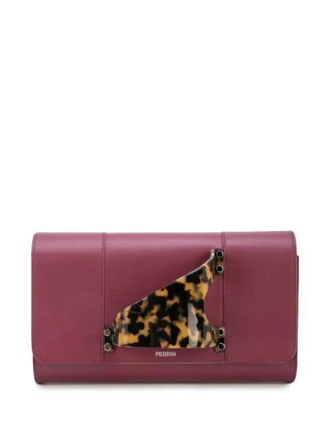 L`Eiffel Leather Clutch With Plexi/Silv Dtl