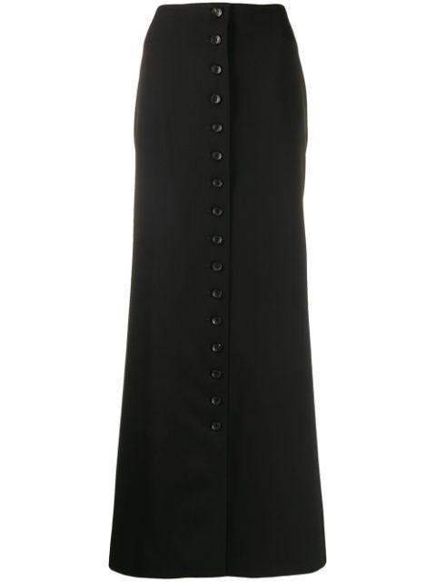 Long Mermaid Skirt With Buttons