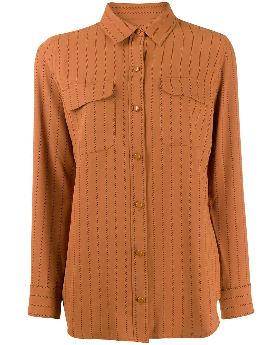 Slim Signature Pinstripe Buttondown Shirt