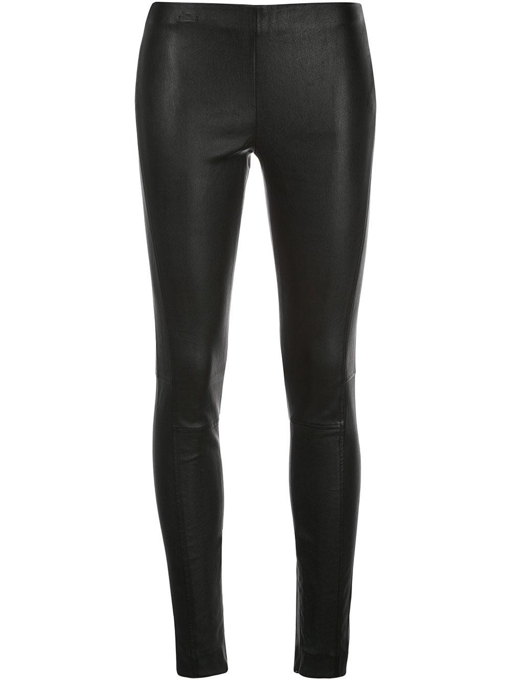 Leather Straight Slim Pant