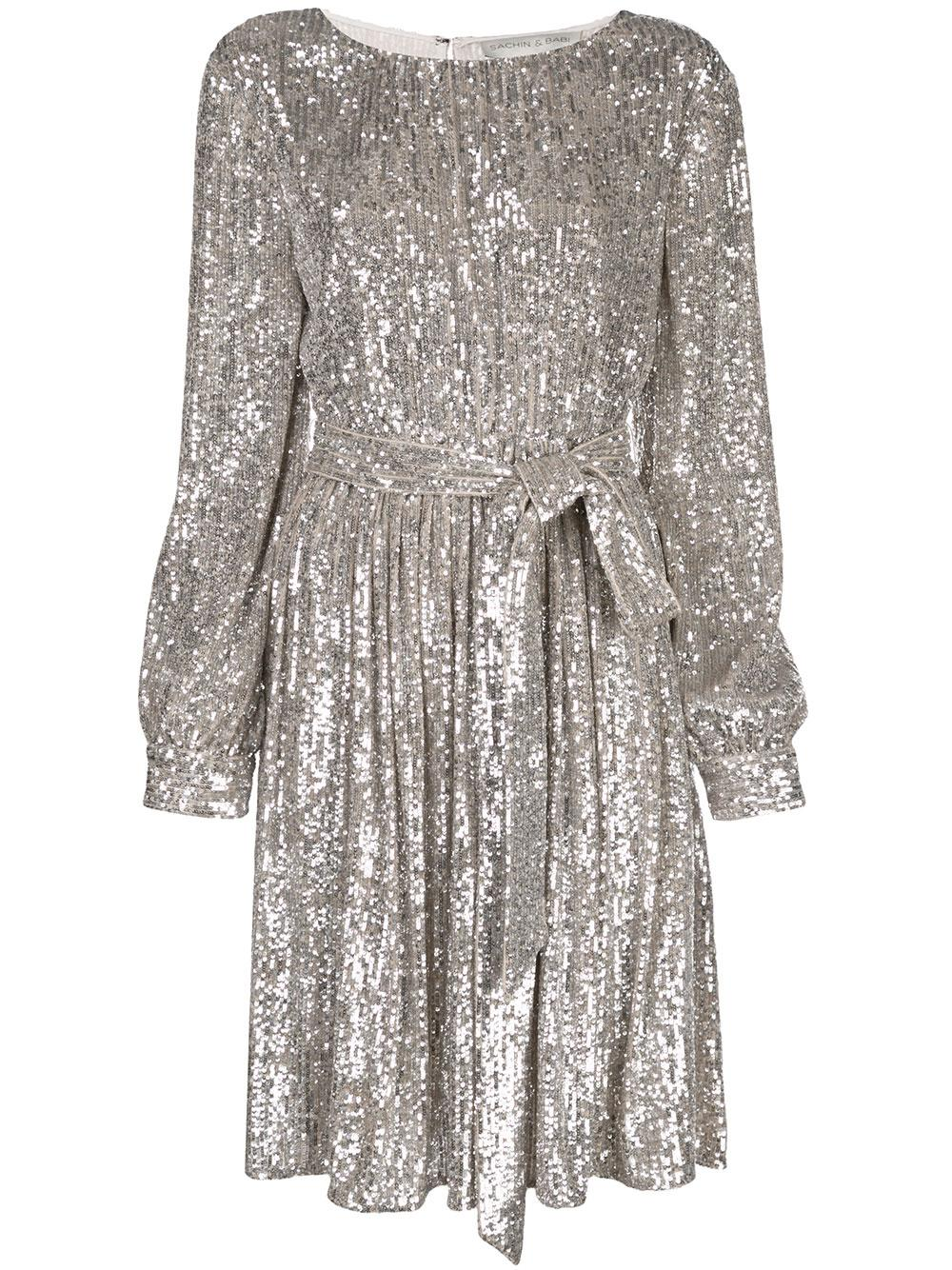 Chloe Long Sleeve Sequin Dress