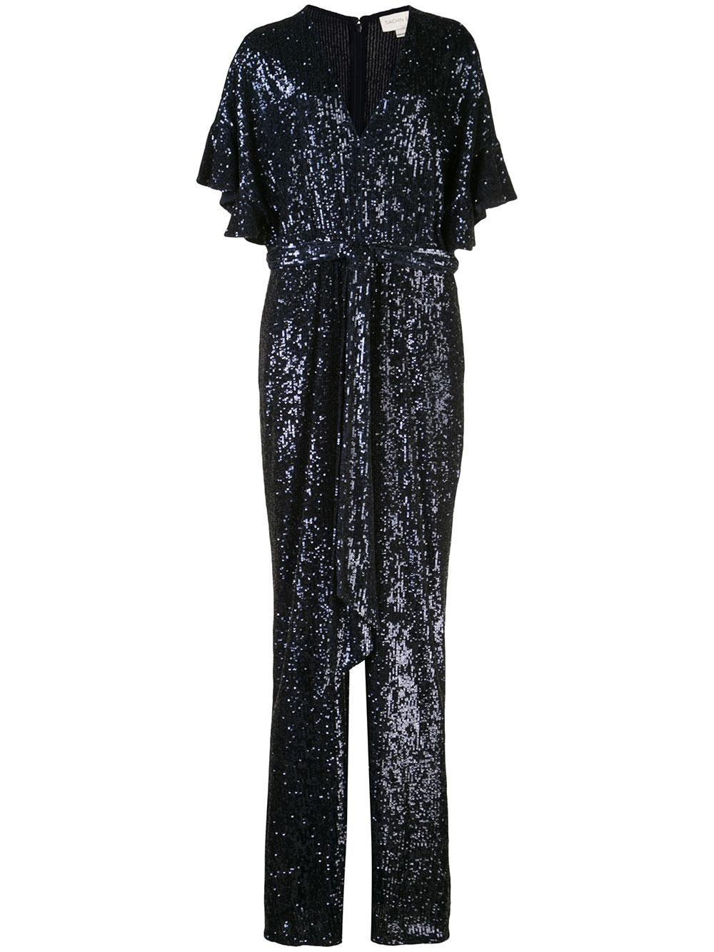 Beatrice Ruffle Sleeve Sequin Jumpsuit