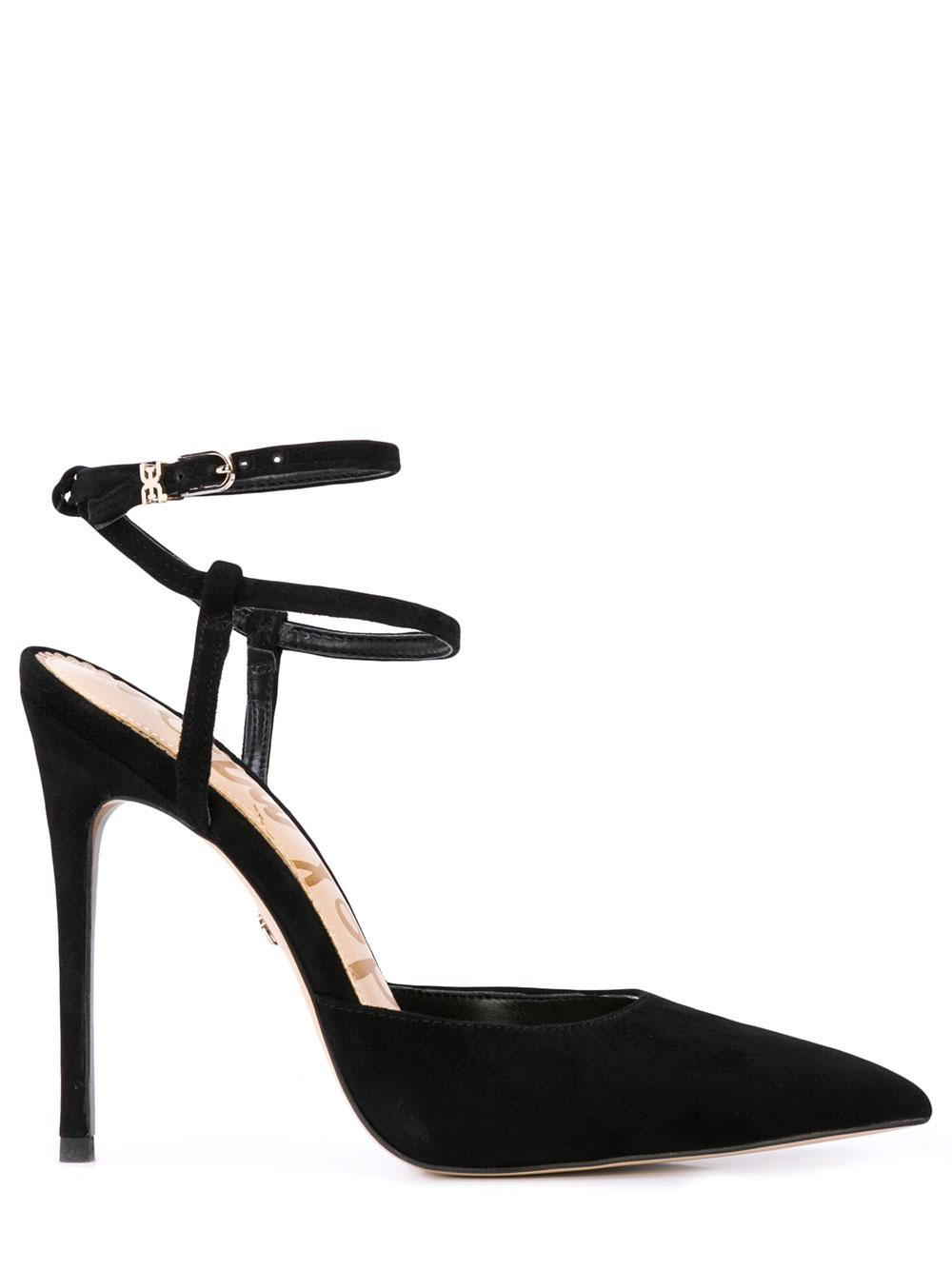 Pointed Toe Suede Stiletto With Ankle Strap