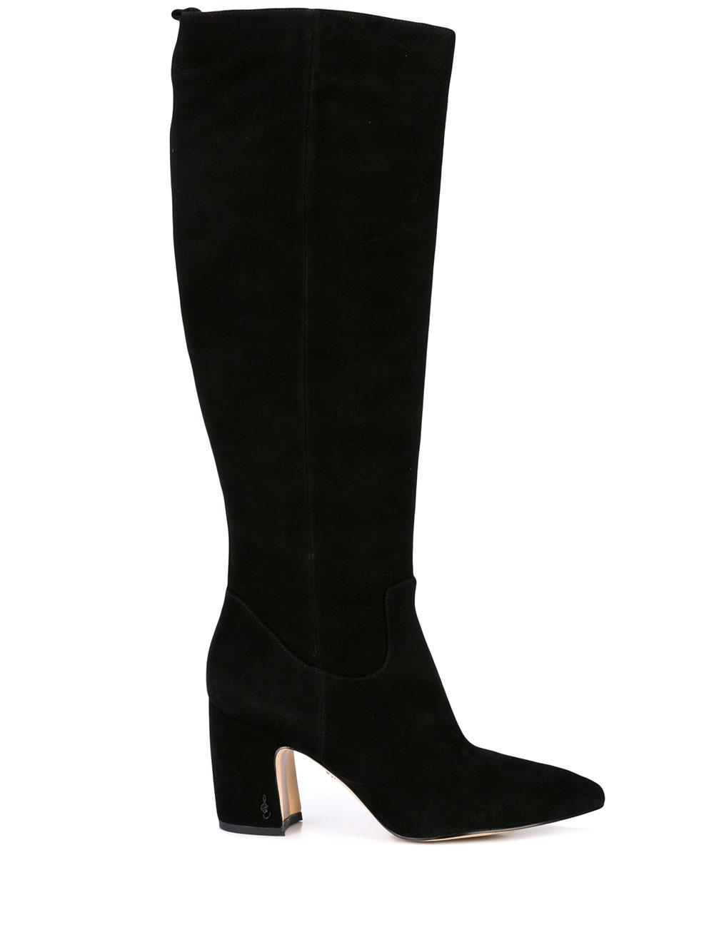 Tall Suede Boot With Block Heel Item # HAI-SUE-F19