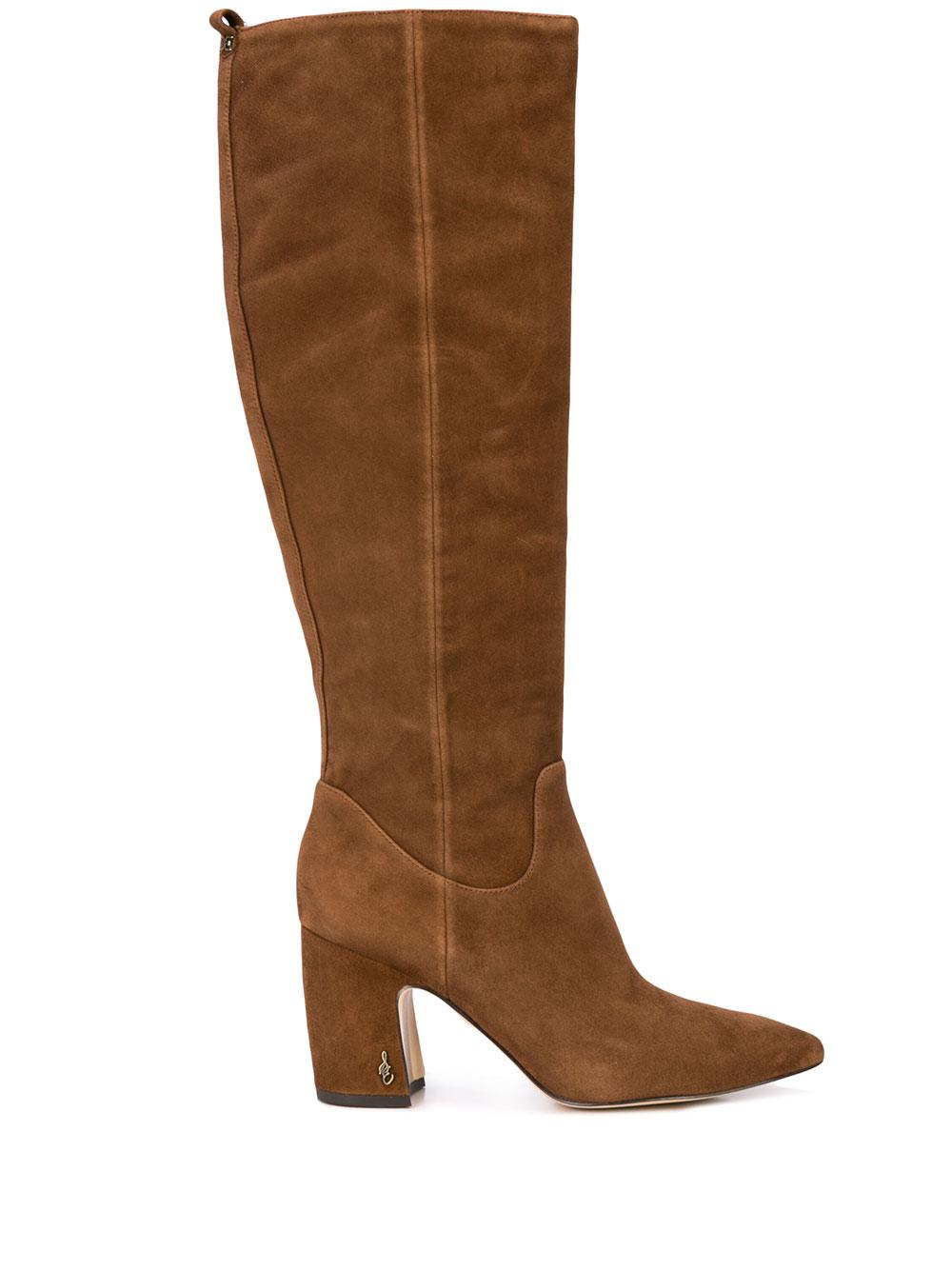 Tall Suede Boot With Block Heel