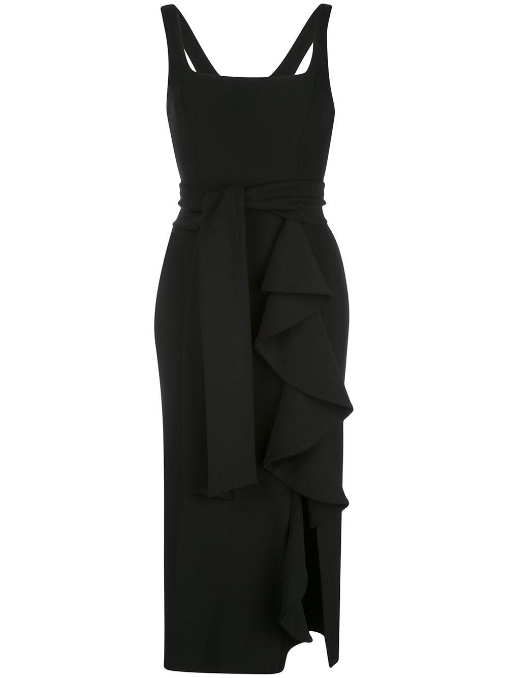 Georgie Frill Midi Dress Item # SJ4514