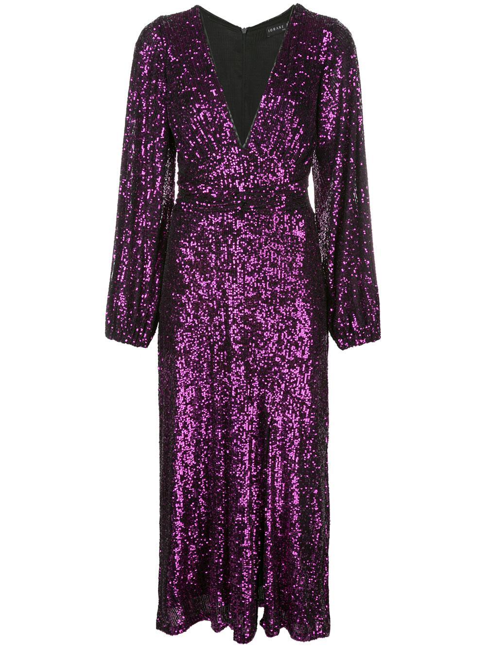 Plain Sequin Knot Maxi Dress Item # E060
