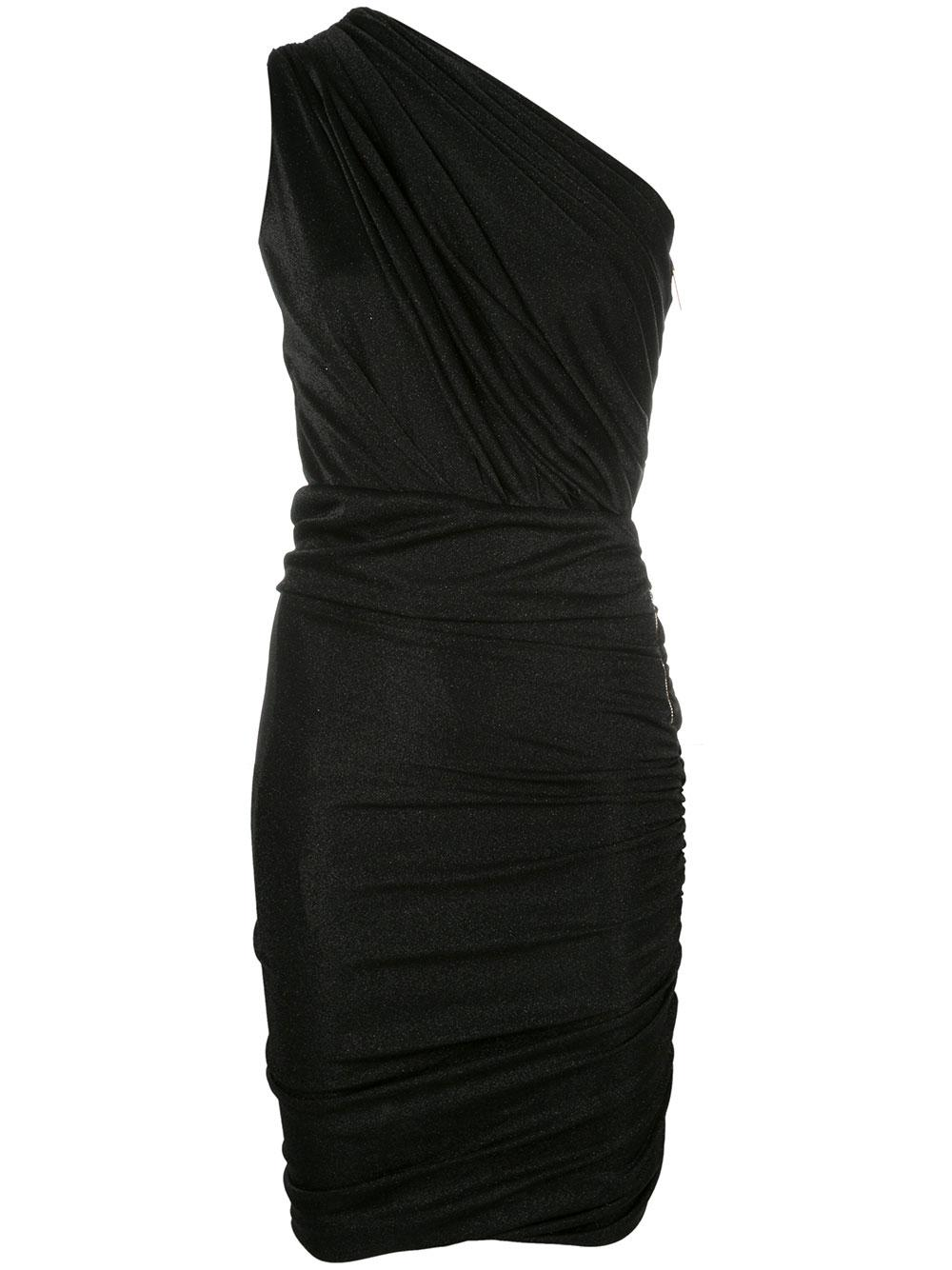 One Shoulder Ruched Dress
