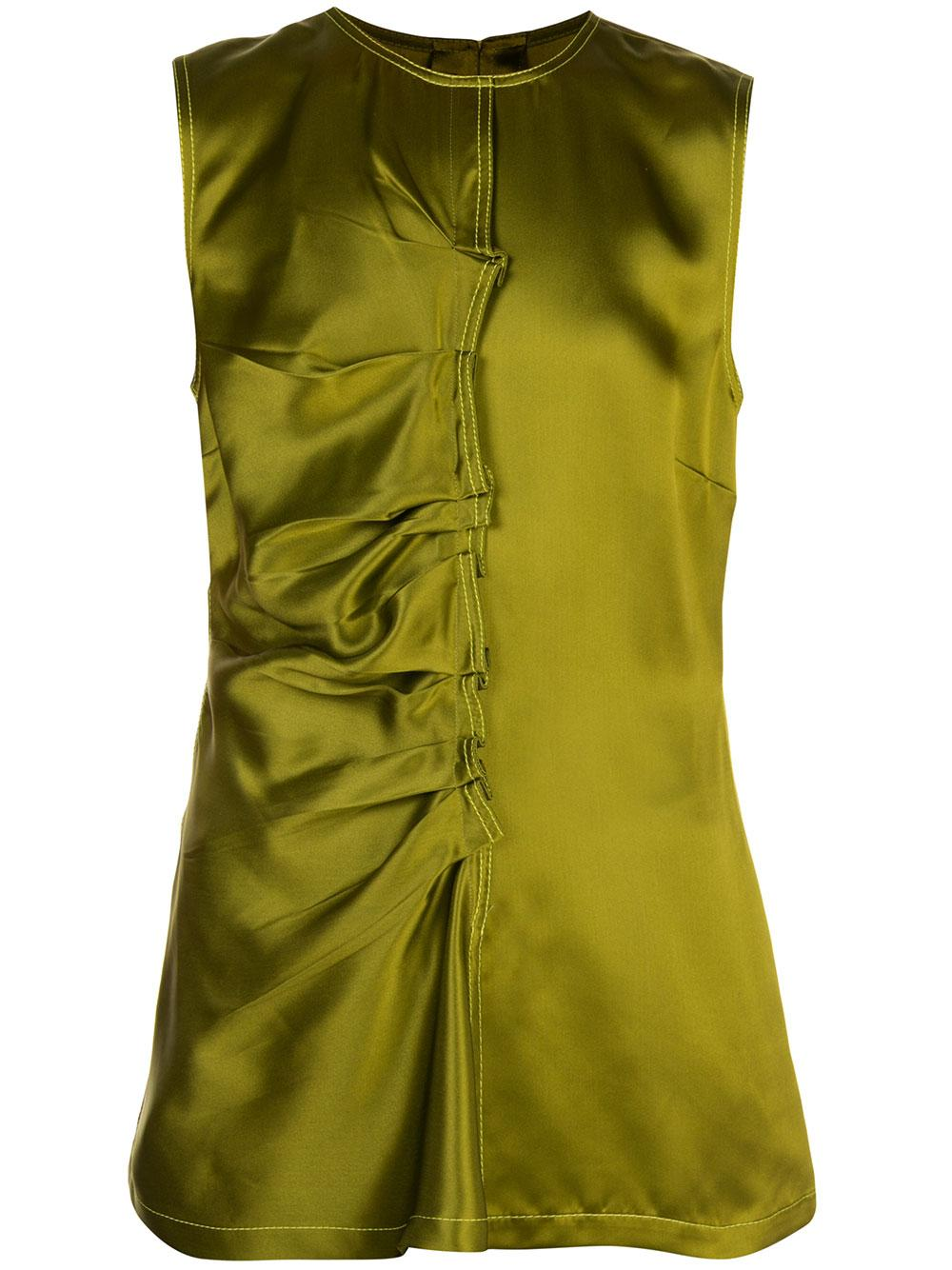 Jules Double Face Silk Ruffle Sleeveless
