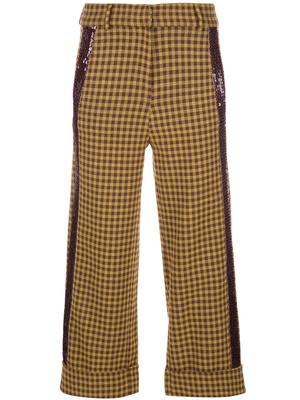 Sequin Cuffed Check Pant