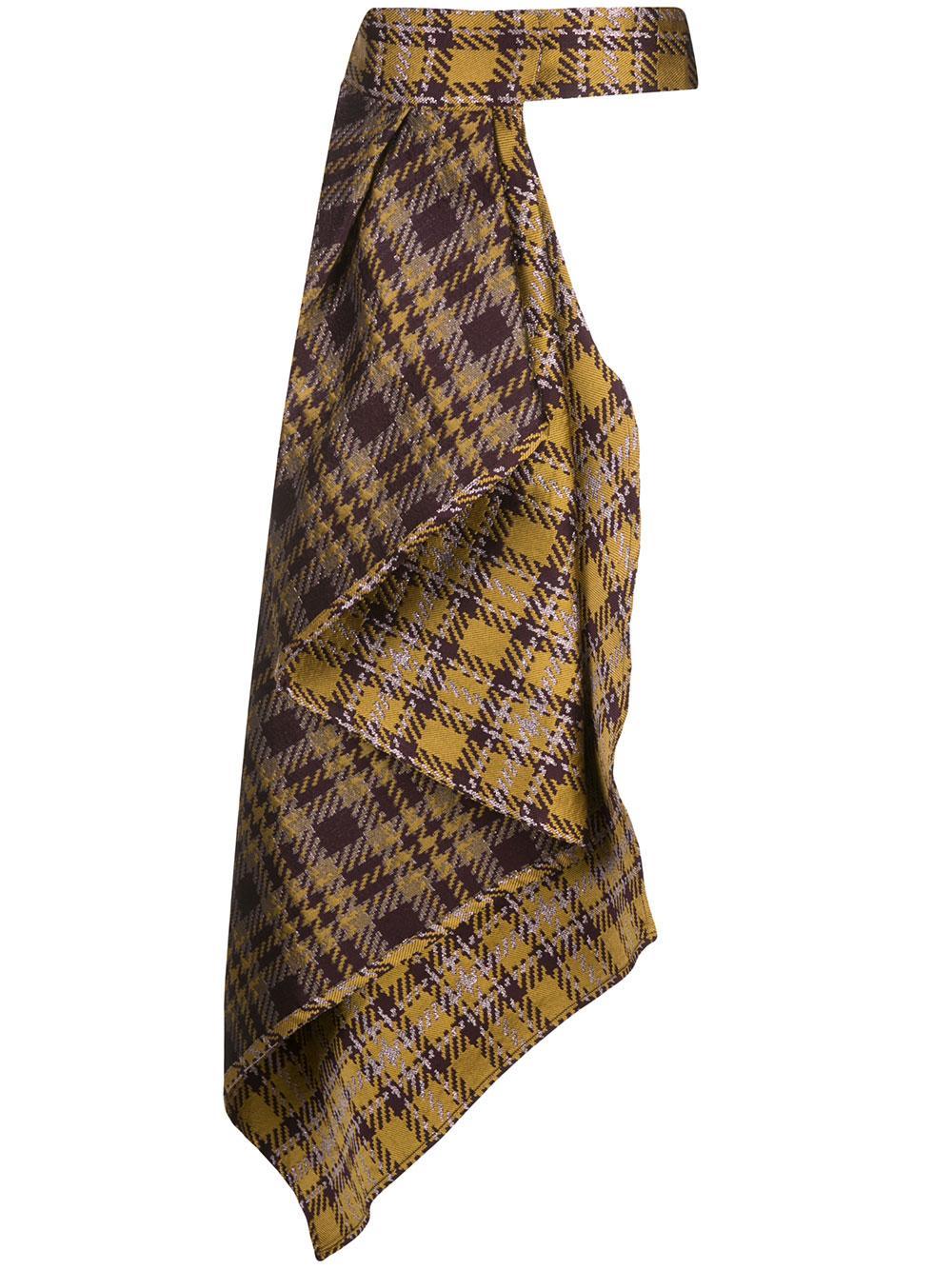 Plaid Belt Skirt Item # DORALBA-BELTSKIRT