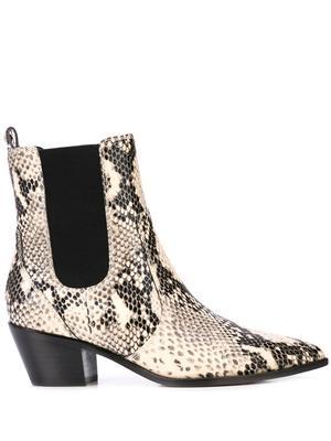 Snake Pointed Toe Bootie