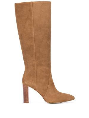 Suede Tall Pointed Toe Boot